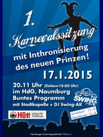 1. Fremdensitzung Karneval Naumburg