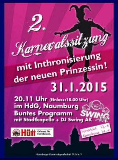 2. Fremdensitzung Karneval Naumburg