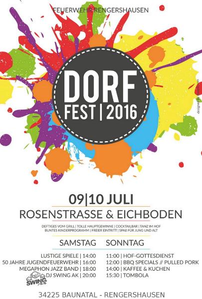 Dorffest Baunatal Rengershausen 2016